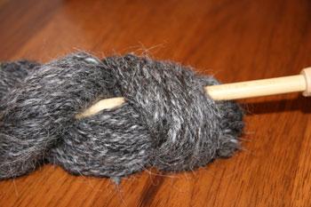 HS#1 Charcoal Handspun Llama Yarn